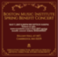 Boston Music Institute's Gala Concert Invitation.