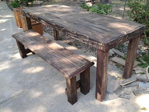 Farm table w/ bench