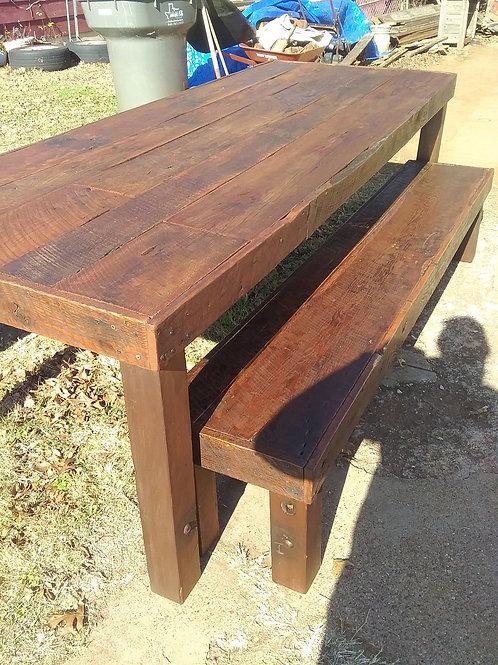 Farmhouse table/ benches
