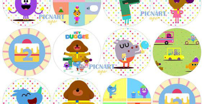 Personalised Hey Duggee Edible Pre Cut Icing Paper / Frosting Sheet Cupcake Topp