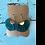 Thumbnail: Faux Suede Fan Shape Dark Green Tassel Earrings