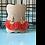 Thumbnail: Faux Suede Fan Shape Coral Tassel Earrings
