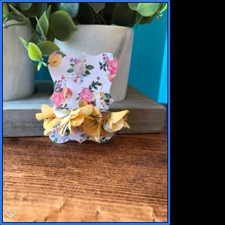Yellow Flower Fan Tassel Earrings