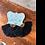 Thumbnail: Black Fan Tassel Earrings
