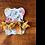 Thumbnail: Yellow Flower Fan Tassel Earrings