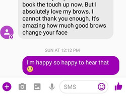 This is why I love my job! Come see Cherisse in Pitt Meadows #happy #browlove #clientlove #microblad
