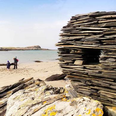 Beach sculptures