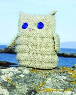 Colonsay Wool Growers Owl Doorstop Knitt