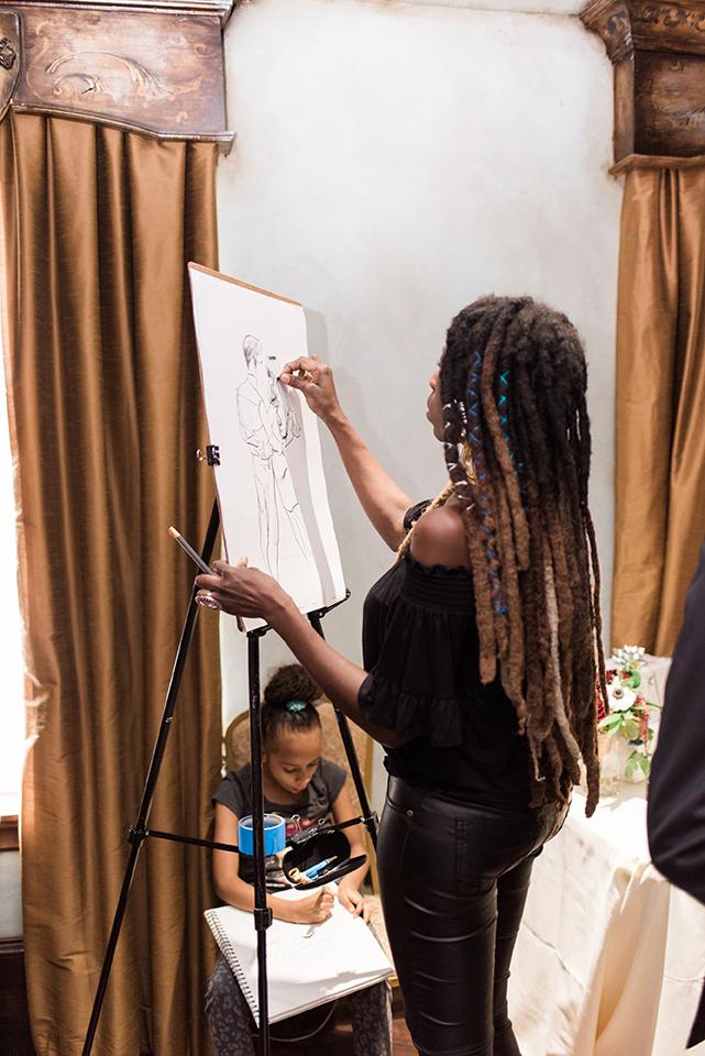 Artist Pjae at work
