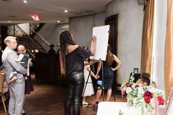 Artist Naiima Pjae at work