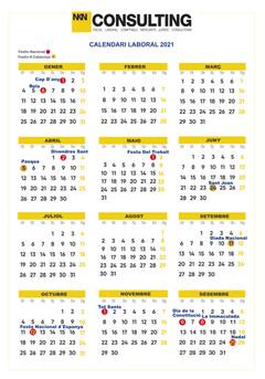 Calendario Laboral en Catalunya