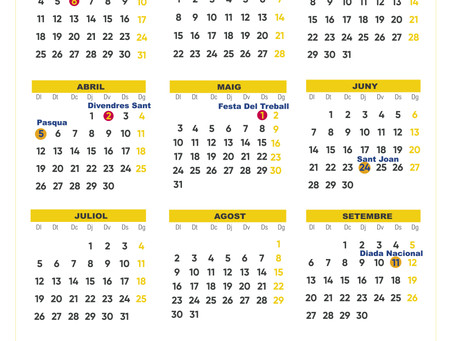 Calendario Laboral en Catalunya