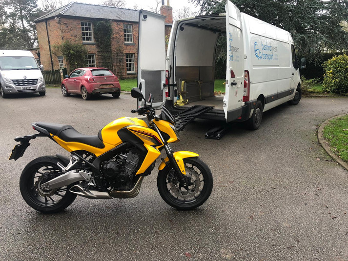 Delivering and collecting your Motorcycle