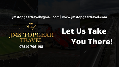 JMS Topgear travel, we can take you to sports events, concerts, airports, and many more destinations in the UK