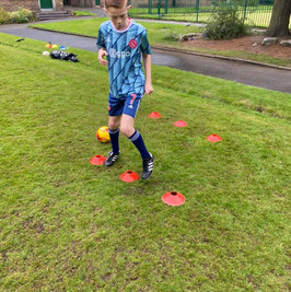 PCT coaching of football and football skills in stoke on trent