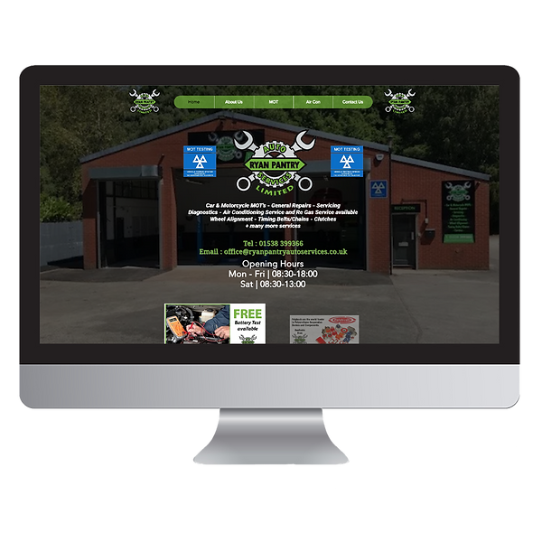 Ryan Pantry Auto Services Website