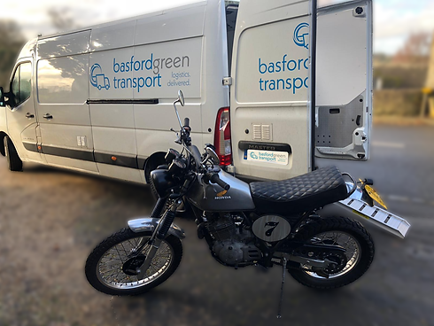 Motorcycle logistics and transport delivery across the UK