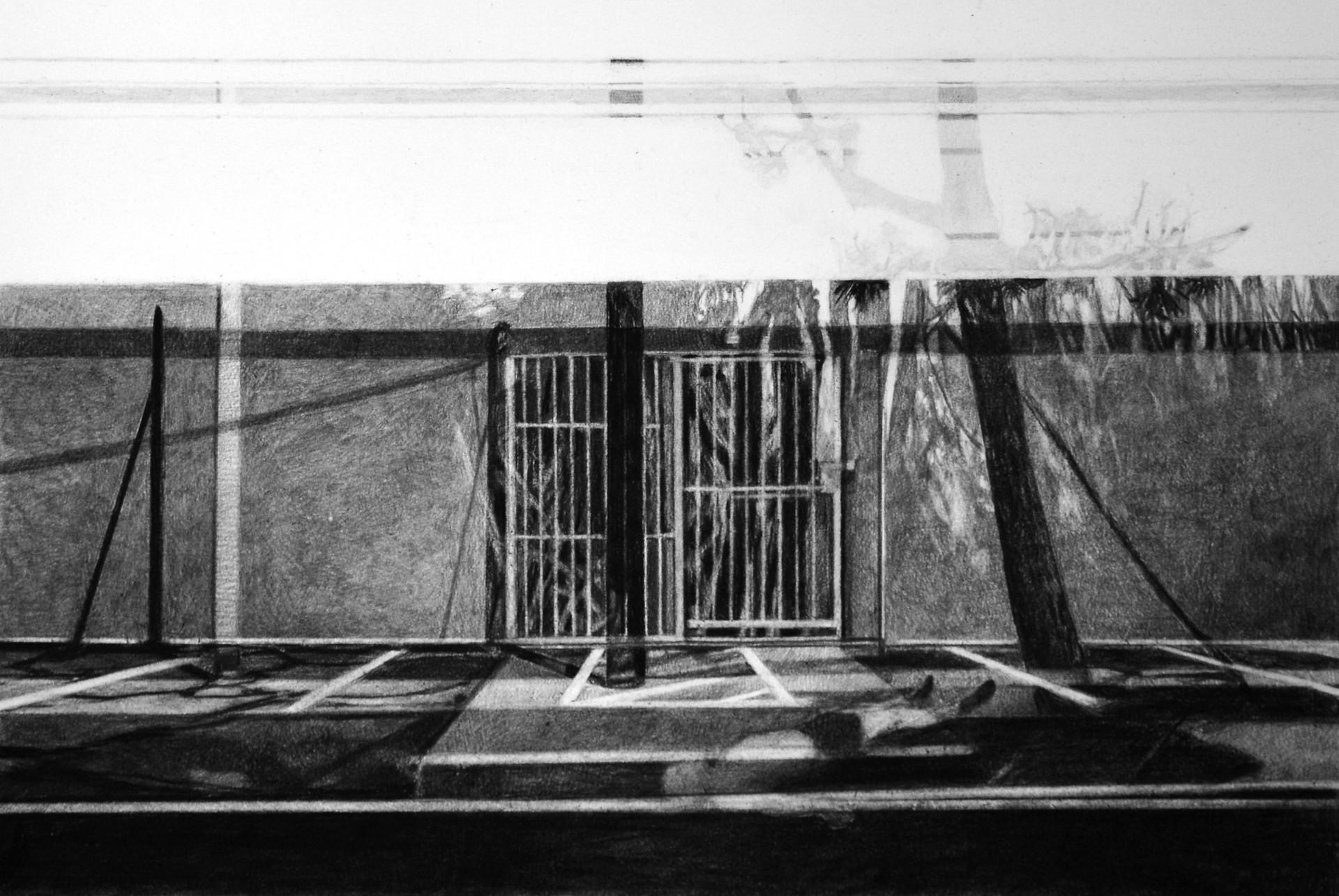 Sans-titre, 2019, fusain et crayon sur papier, 60 x 80 cm