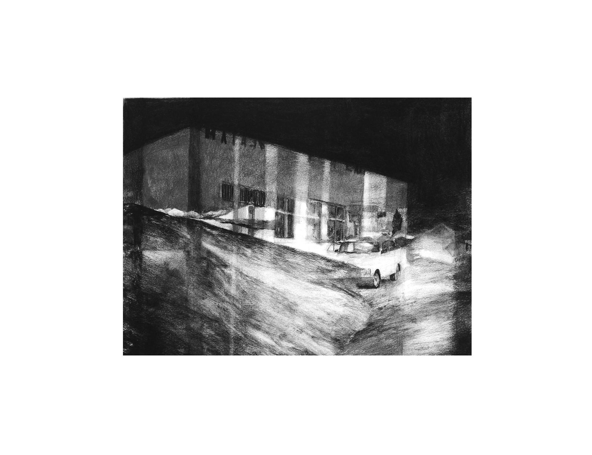 Landscape, 2015, crayon et fusain sur papier, 40 x 60 cm