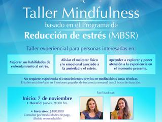 Próxima versión del Taller Mindfulness de reducción del estrés basado en MBSR