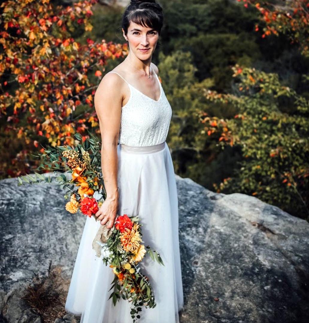 Chelsea's bridal bouquet