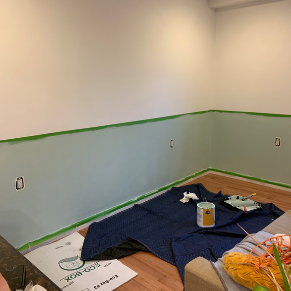 living room during painting