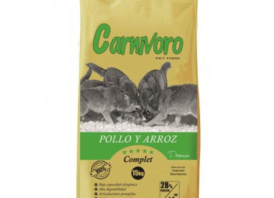 Carnívoro Complet pollo arroz 15 kg