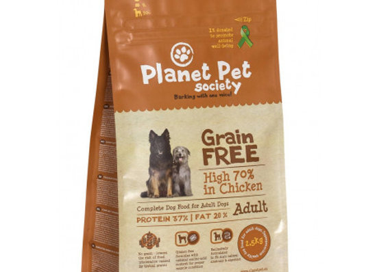 Planet Pet Grain Free Pollo y Patatas 2,5Kg