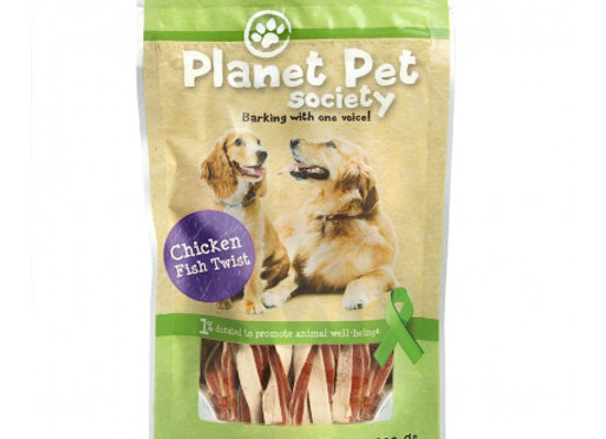 Planet Pet Snack Twist Pollo y Pescado 400gr