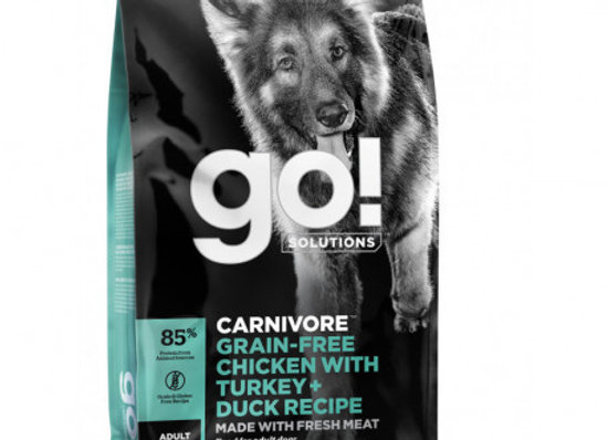 GO! CARNIVORE Grain Free Chicken, Turkey + Duck Adult Dog 1,6kg