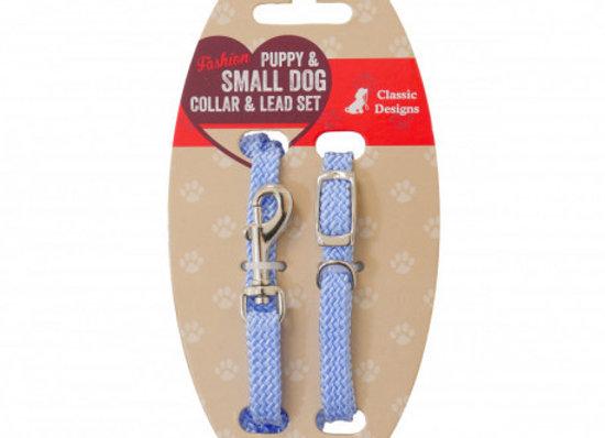 Rosewood Set collar y correa puppy azul - rosa