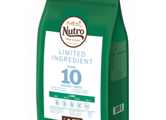 Nutro Limit ingredient adult med cordero 9,5k