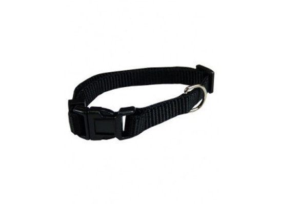 Collar ajustable nylon 20mmx40-55cm, negro