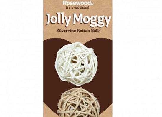 Rosewood Gato Jolly Moggy 2 pelotas ratán