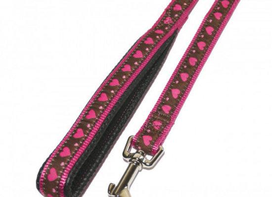 Rosewood Correa corazón rosa 100cm x 18mm