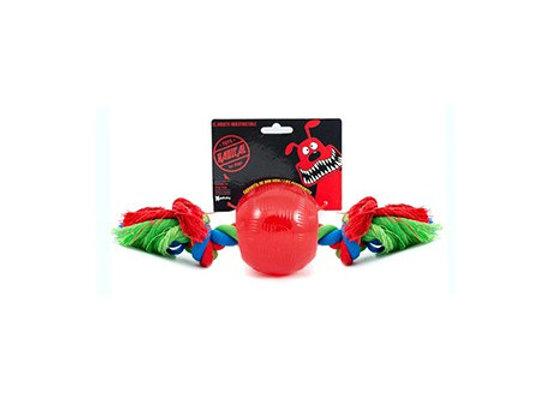 Radical Rojo Bola con Cuerda L 10cm