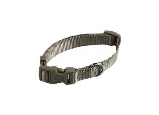 Collar ajustable nylon 10mmx20-30cm, gris