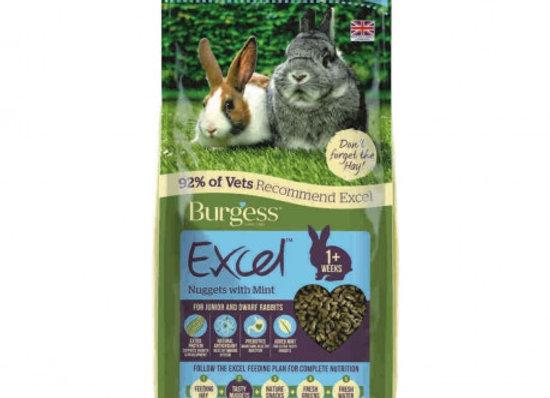 Burgess excel conejo junior & enano 4 kg