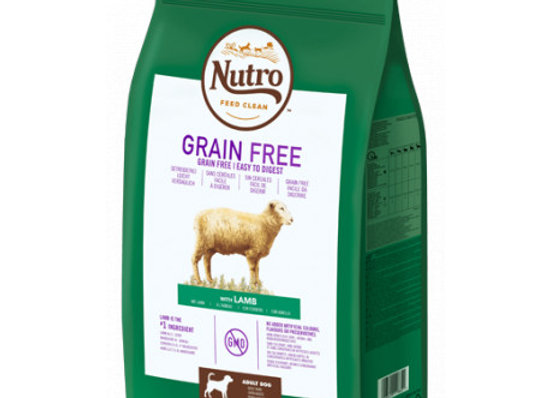 Nutro Grain free adult med cordero 11,5kg