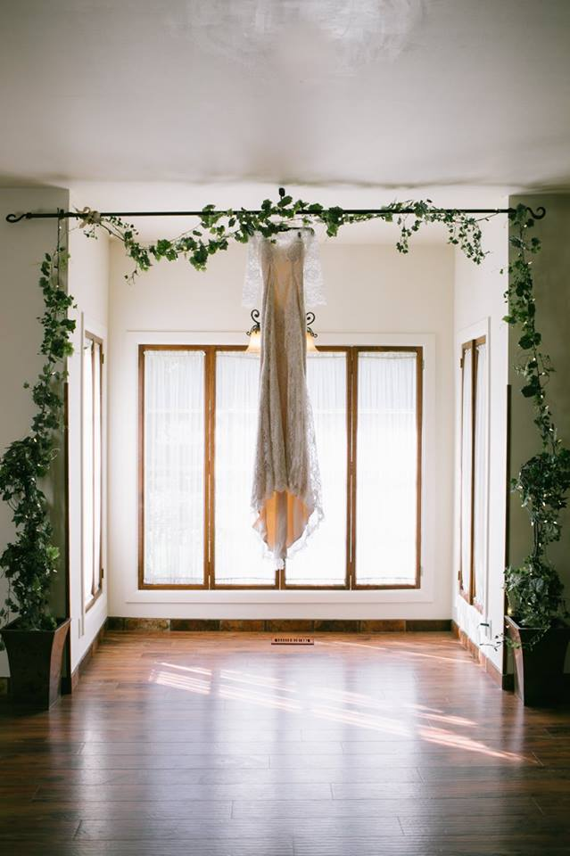 HANGING DRESS IN THE PARLOR
