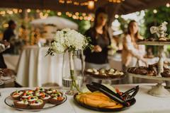 buffet in gazebo