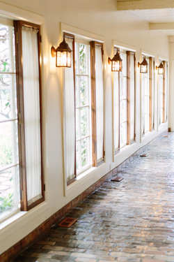 INDOOR WALKWAY ALONG FRENCH WINDOWS