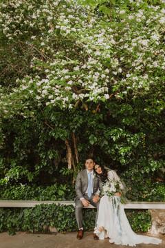 couple photo in the garden