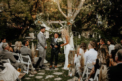 Navy & Payton Ceremony by Waterfall