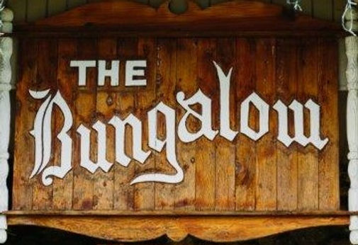 The Bungalow Old-World Entrance Sign
