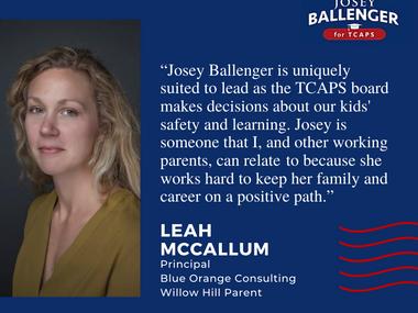 McCallum endorsement
