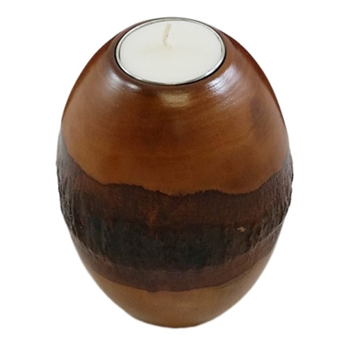 Bark Pillar Candle Holder - (Set of 2 also Available)
