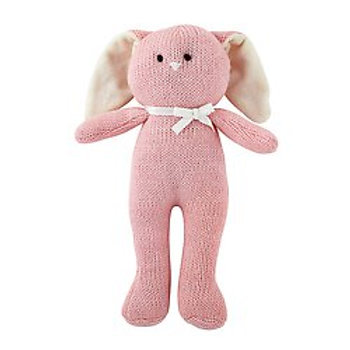 Pink Bunny Knit Toy