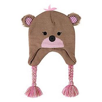 Pink Bear Knit Hat