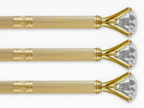 Gold Textured Gem Pen